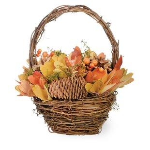 Purchase Autumn Splendor Pumpkin Basket Figurine By The Holiday Aisle