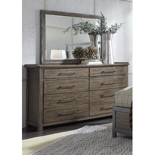 Bartow 8 Drawer Double Dresser with Mirror
