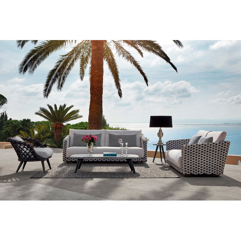 Sifas Riviera Coffee Table With Printed Aluminum Top Wayfair