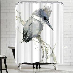 Suren Nersisyan Belted Kingfisher 2 Single Shower Curtain