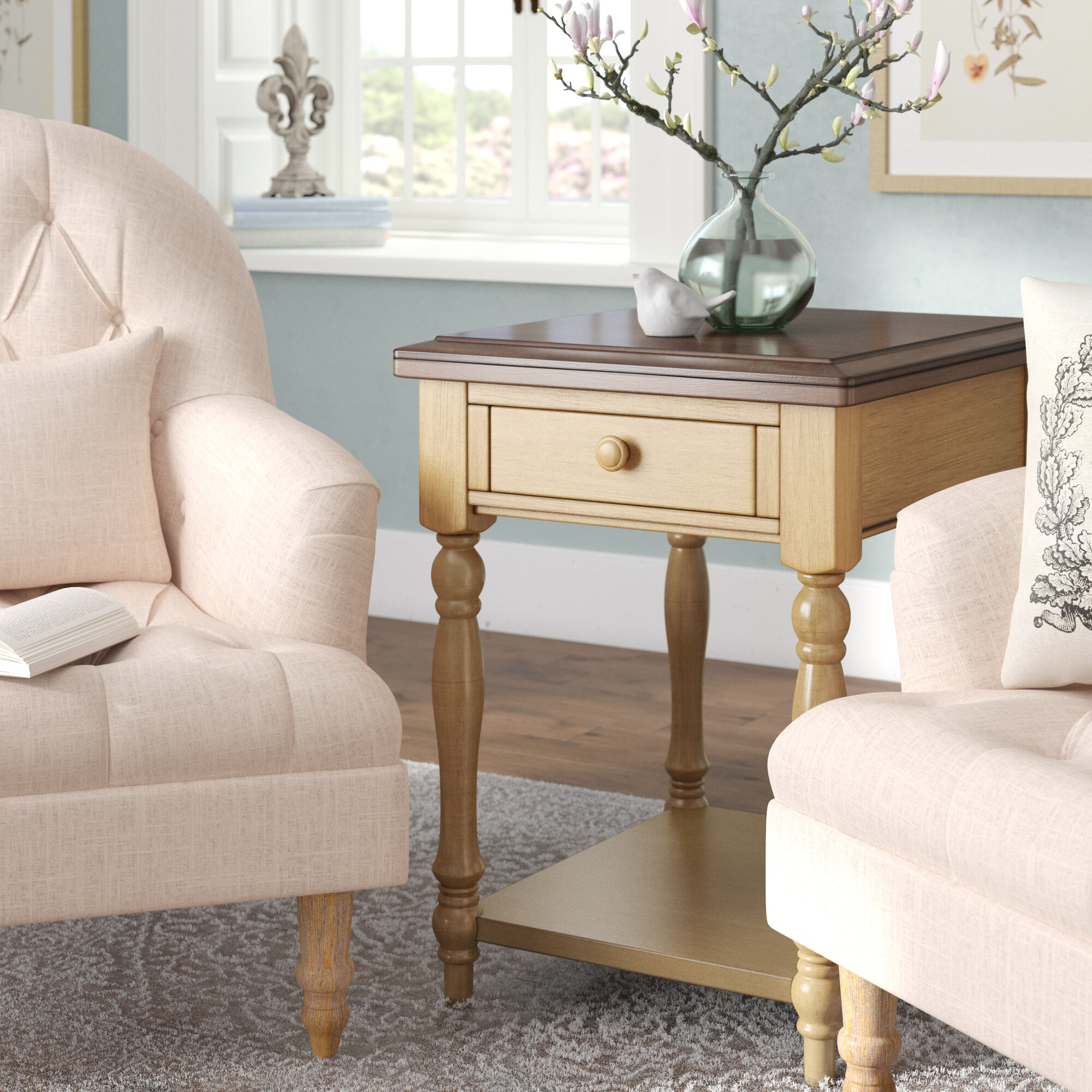 Three Posts Courtdale End Table With