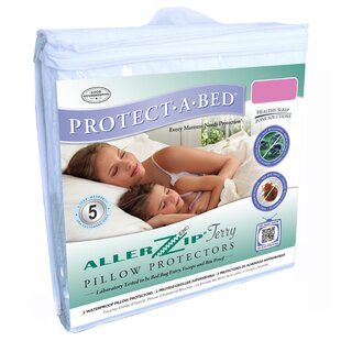 Aller Zip Anti-Allergy & Bed Bug Proof Pillow Encasement by Protect-A-Bed 2019 Sale