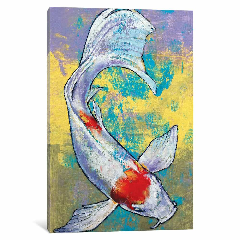 East Urban Home Koi Fish Painting Print On Canvas Wayfair