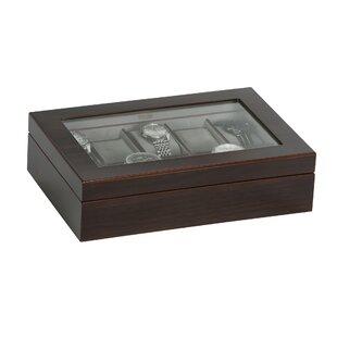 Best Hudson Glass Top Wooden Watch Box ByMele & Co.