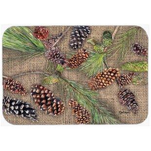 Pine Cones Glass Cutting Board