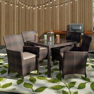 4-Sitzer Gartengarnitur Akebia mit Polster