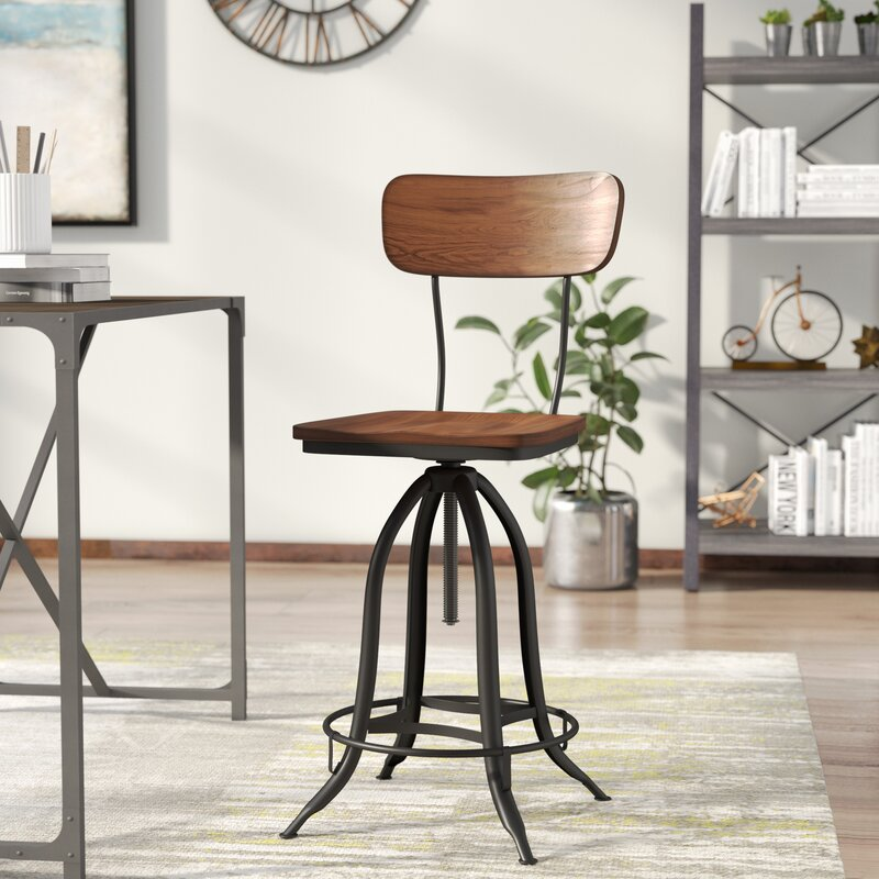 Exceptionnel Fennimore Adjustable Height Swivel Bar Stool