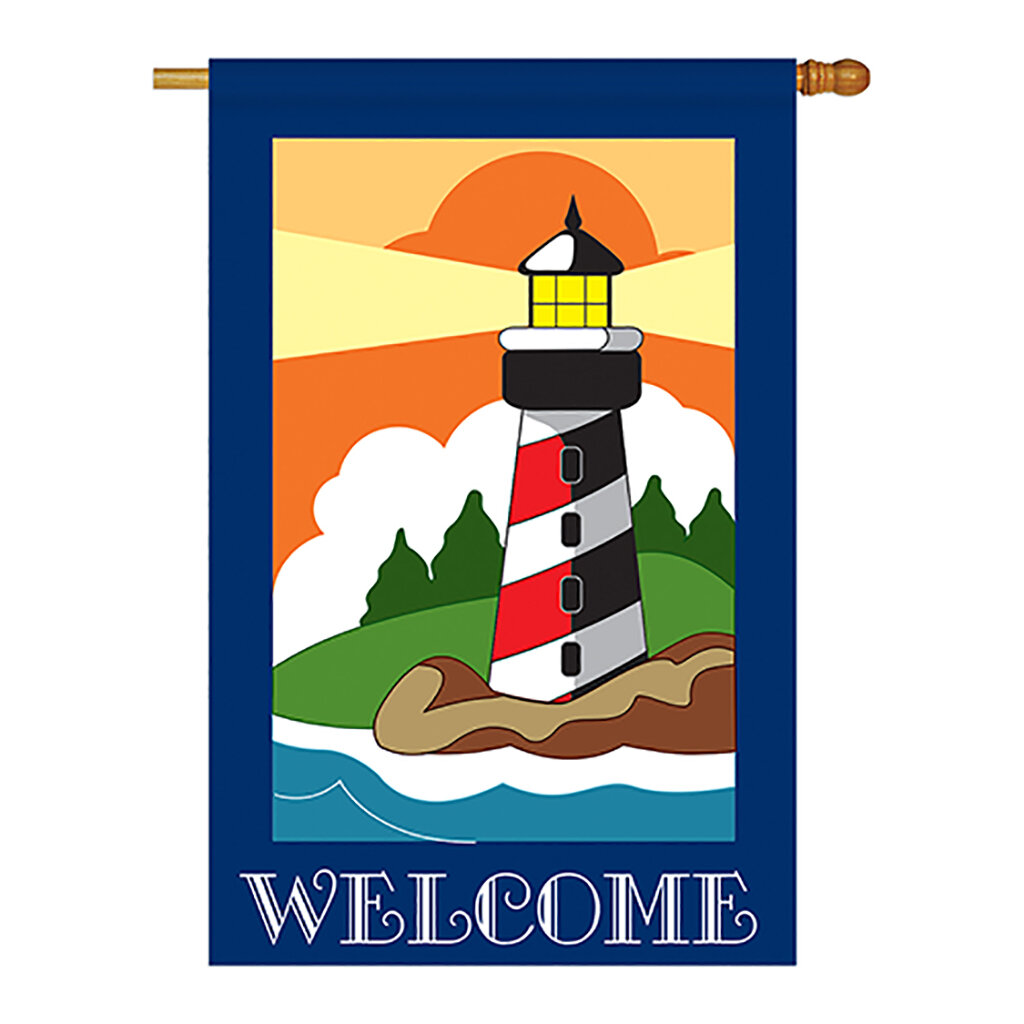 Breeze Decor Lighthouse 2 Sided Polyester 40 X 28 In House Flag Wayfair