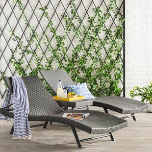 Brayden Studio Alejandre Chaise Lounger Set