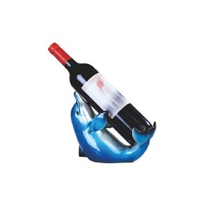 Waite Dolphin 1 Bottle Tabletop Wine Rack by Rosecliff Heights