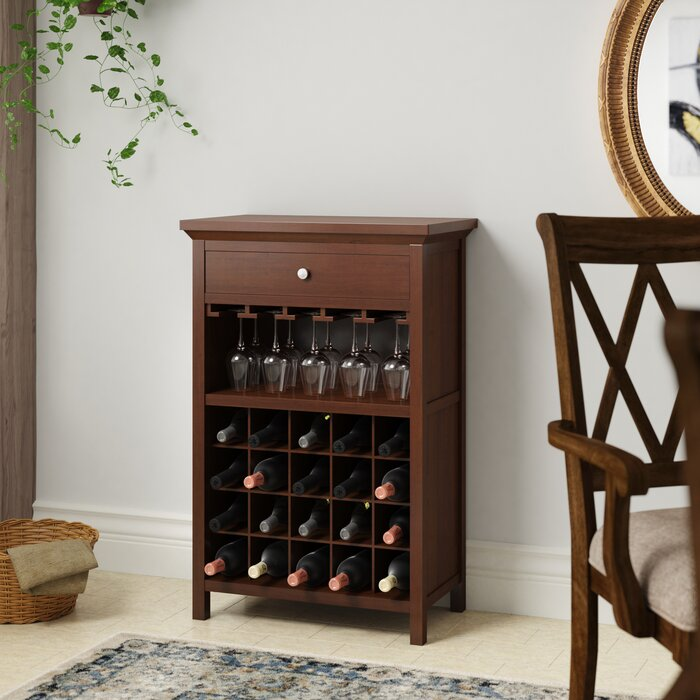 Kepner 20 Bottle Floor Wine Rack