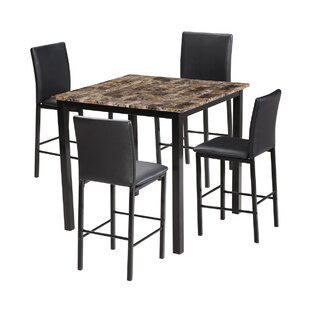 Hartlyn 5 Piece Dining Set Winston Porter