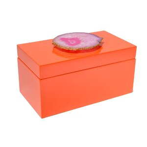 Lacquer Box with Agate