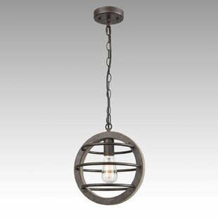 Aarush Vintage Industrial 1-Light Globe Pendant by 17 Stories