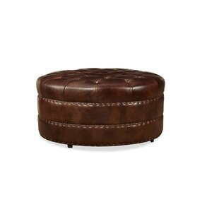 Kelson Leather Cocktail Ottoman