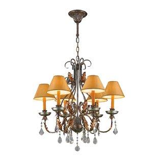 Astoria Grand Rindge 6-Light Shaded Chandelier