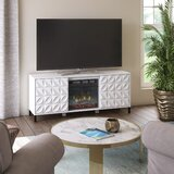 Mitchellville TV Stand for TVs up to 60 with Electric Fireplace Included by Ebern Designs