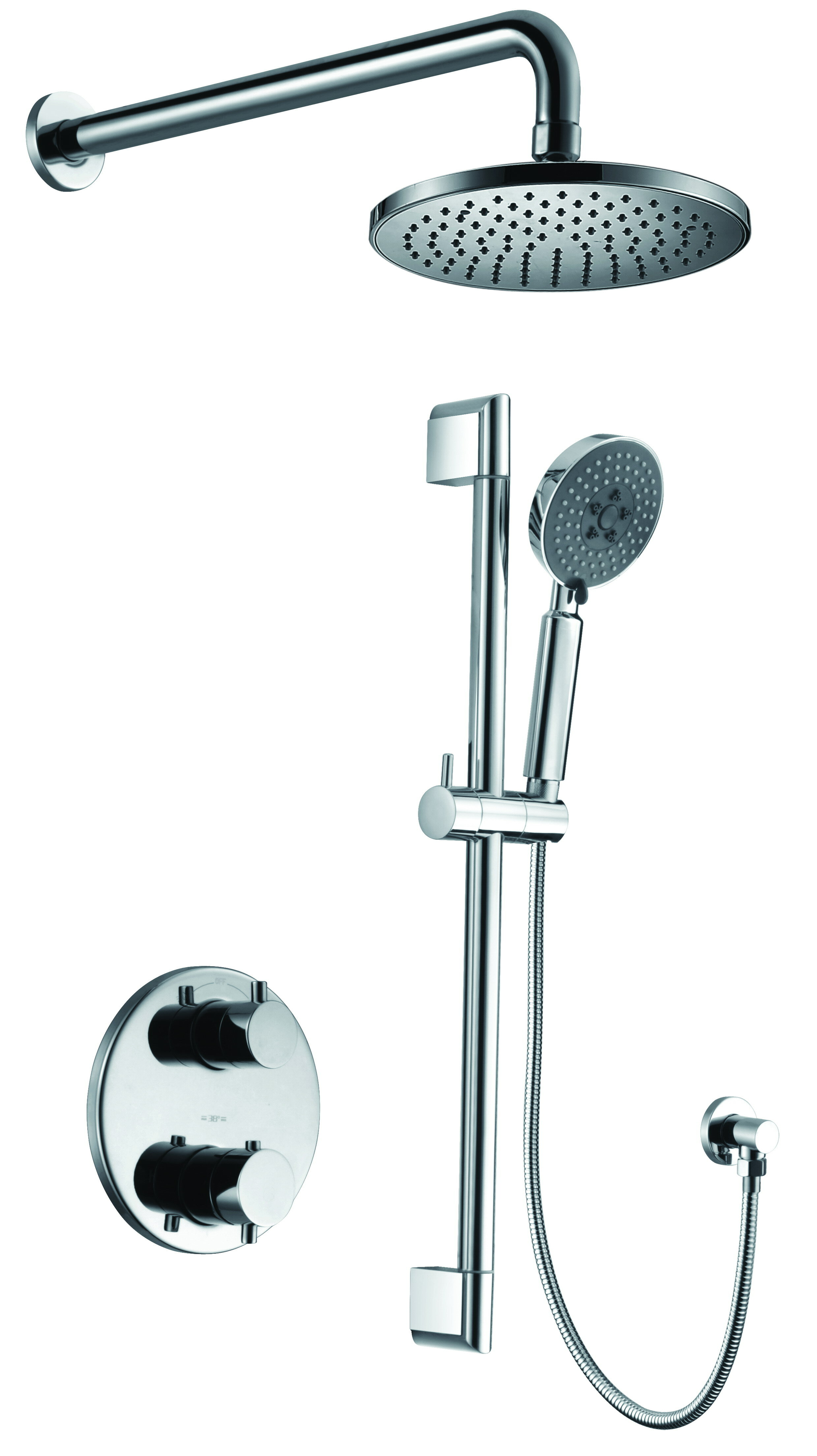 Alfi Brand 2 Way Thermostatic Complete Shower System With Rough In Valve Wayfair