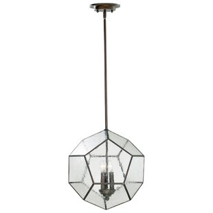 Lucerne 3-Light Geometric Chandelier by Wrought Studio