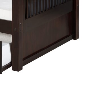 Price comparison Oakwood Natural Twin Wood Bunk Bed with Storage by Harriet Bee Reviews (2019) & Buyer's Guide
