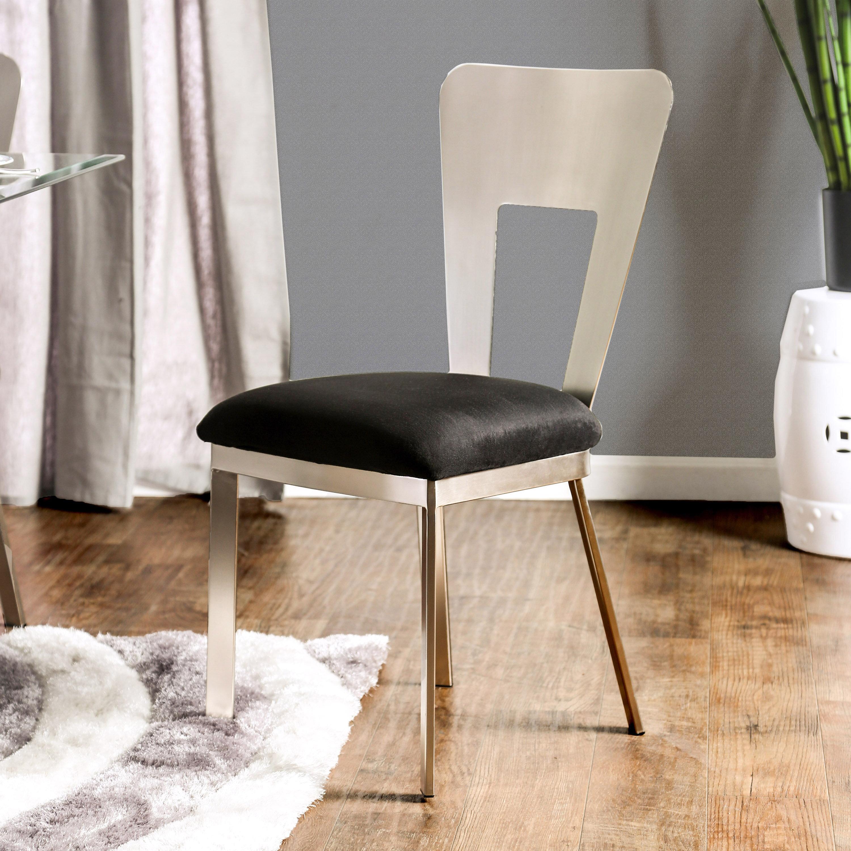 Orren Ellis Beulah Upholstered Dining Chair Reviews Wayfair