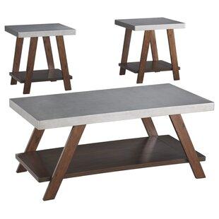 Barksdale 3 Piece Coffee Table Set