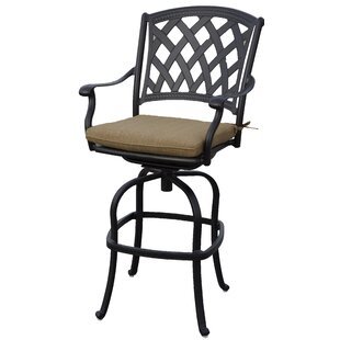 Campton Patio Swivel Bar Stool with Cushion (Set of 6) (Set of 6)