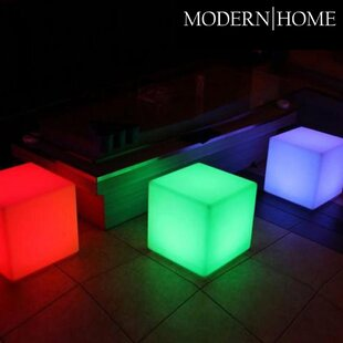 Purchase Modern Home LED Glowing Cube Box Stool By Vandue Corporation