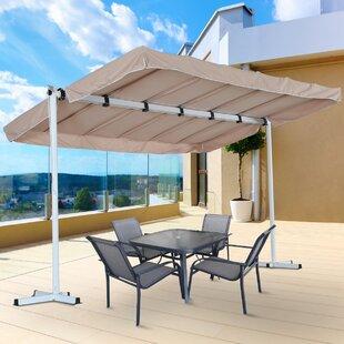 Outsunny 8 Ft W X 12 D Aluminum Pop Up Canopy
