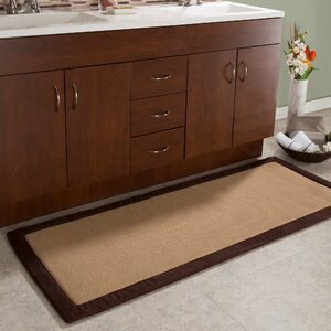 Faux Linen Fleece Long Bath Rug