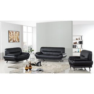 American Eagle International Trading Inc. Arcadia Leather 3 Piece Living Room Set