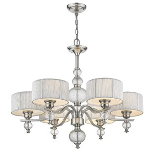 French 6-Light Shaded Chandelier
