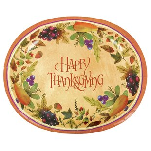 Autumn Thanksgiving Medley Paper Dinner Plate (Set of 8)