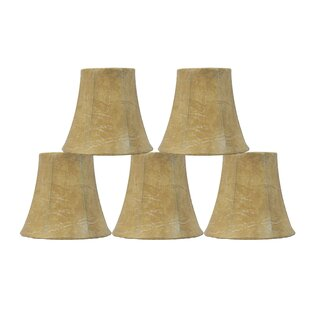 5 Faux Leather Bell Candelabra Shade (Set of 5)