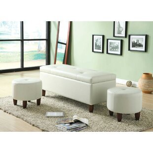 Mairead Storage Bench with 2 Ottomans by