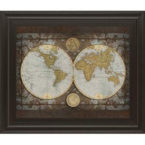 World map wall art joss main world map framed print sciox Gallery