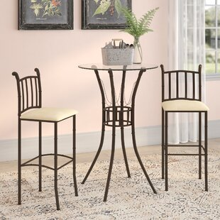 Jeffrey 3 Piece Pub Table Set Winston Porter