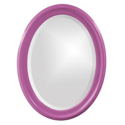 House of Hampton Houstonia Wall Mirror Finish: Hot Pink