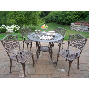 Oakland Living Mississippi 5 Piece Semi Dining Set