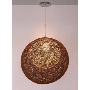 Sir 1-Light Globe Pendant by Wrought Studio