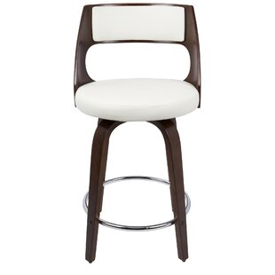 Adelyn Swivel Bar & Counter Stool (Set of 2) Wade Logan