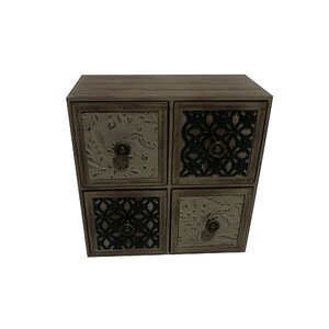 Lori Wood 4 Drawer Accent Chest