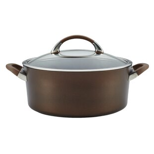 7 Qt. Non-Stick Aluminum Round Dutch Oven with Lid