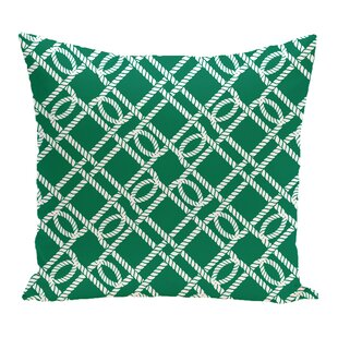 Bridgeport Know the Ropes Geometric Outdoor Throw Pillow
