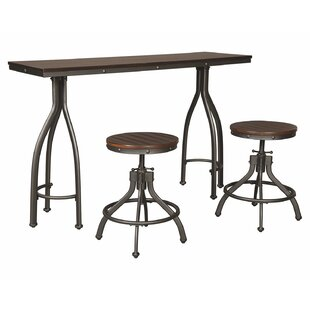 Yvette 3 Piece Adjustable Pub Table Set Trent Austin Design