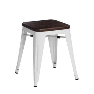 Jerome Wood Stool By Williston Forge