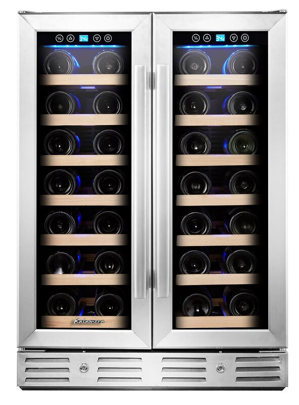 40 bottle dual zone builtin wine cooler