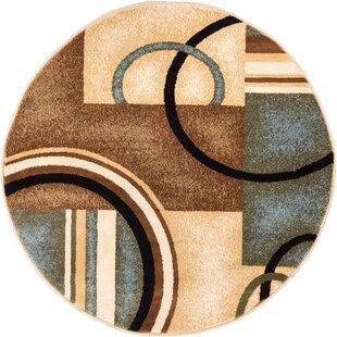 Gehl Modern Brown Arcs & Shapes Area Rug by Zipcode Design