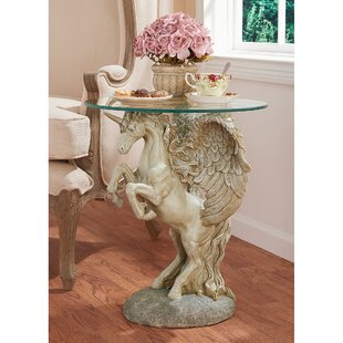 Mystical Winged Unicorn End Table by Design Toscano