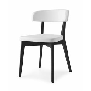 Siren Upholstered Wenge Wooden Side Chair by Connubia
